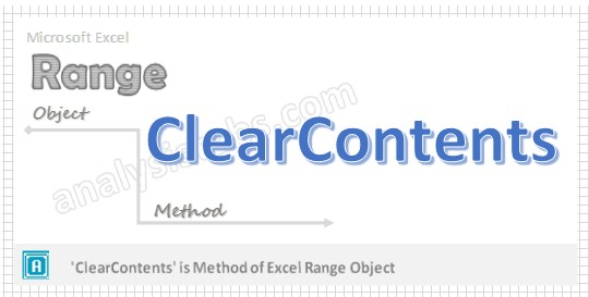 VBA ClearContents Method Excel Range or Cell Object