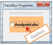 Caption Property of CheckBox Control